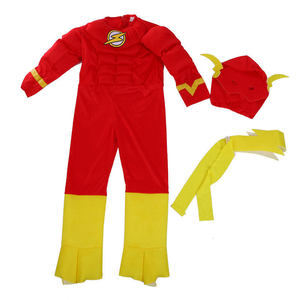Image 2 - Hot Sale Boy The Flash Muscle Superhero Fancy Dress Kids Fantasy Comics Movie Carnival Party Halloween Cosplay Costumes