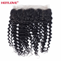 Peruvian Deep Wave 360 Lace Frontal Closure With Baby Hair Pre Plucked 130% Density Natural Hairline Remy Human Hair HOTLOVE