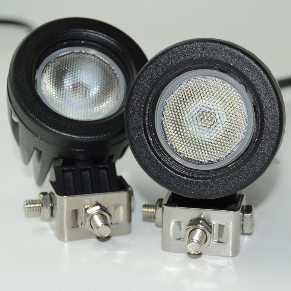 2pcs 10W LED Work Light 12V  Car Auto SUV ATV 4WD AWD 4X4 Offroad LED Driving Fog Lamp Round Square Motorcycle Truck Headlight