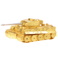Top Sale Tiger Tank Miniature Brass 3D Metal Model Puzzles Kids Assemble DIY Craft Solid Jigsaw