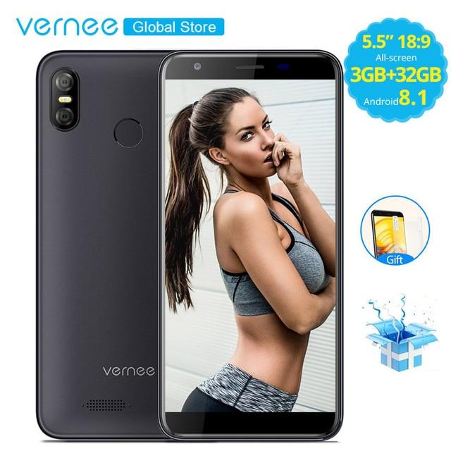 Vernee M3 5,5 дюймов FACE ID 3 ГБ Оперативная память 32 ГБ Встроенная память Android 8,1 смартфон Quad Core MTK6739 телефона 3300 мАч 4G LTE мобильный телефон