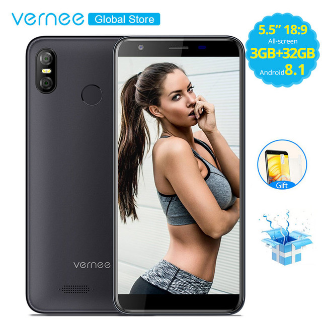 Vernee M3 5.5 Inch FACE ID 3GB RAM 32GB ROM Android 8.1 Smartphone Quad core MTK6739 Cellphone 3300mAh 4G LTE Mobile Phone