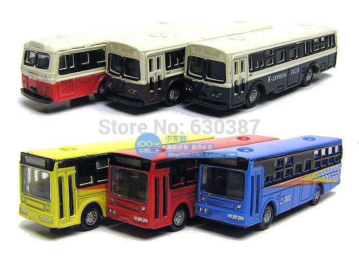 6 шт. литые под давлением модели автобусов мини автобус 1: 150 Макет поезда N Масштаб Свободные колеса