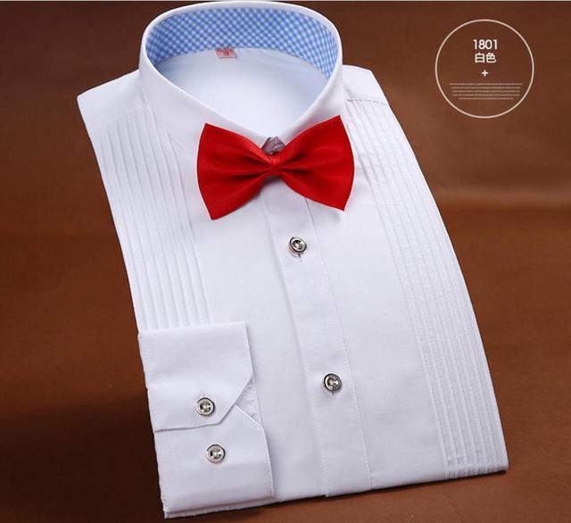 Francés camisas de Los Hombres de Los Hombres se casan boda banquete ofrecido iglesia vestido de camisa roja