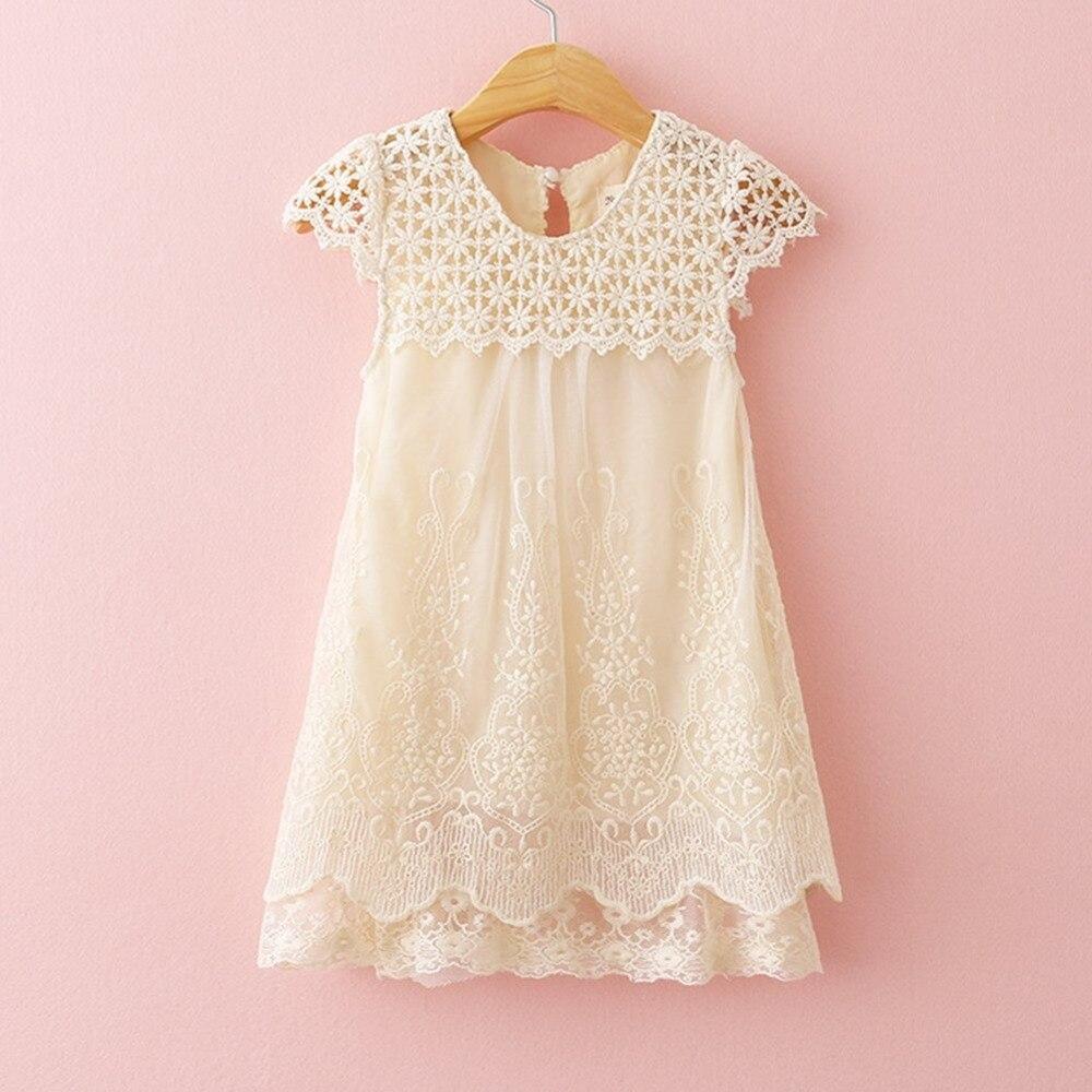 Girls Dress Summer Children Fashion Lace Princess Dress Kids Party O-Neck
