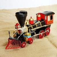 ברזל ראש רכבת דגם רכבת סימולציה צורה קלאסית דגם מנוע קיטור SMT213 קישוט מלאכות