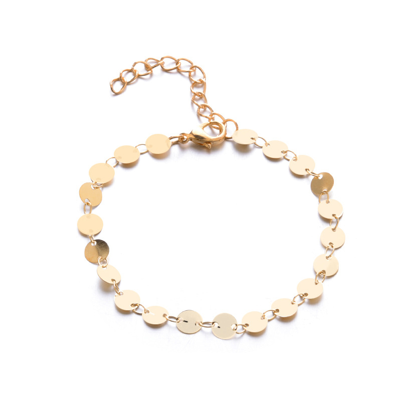 Chain Gifts Adjustable Exquisite Bohemia Beads Bracelet Golden Sequin 3PCS/Set Valentines Gift 19 New Arrival Silver 9