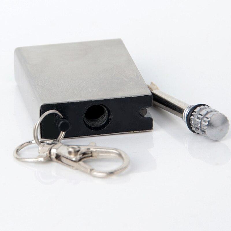 Silver AOR POWER Metal Emergency Fire Starter Magnesium Flint Striker Camping Lighter
