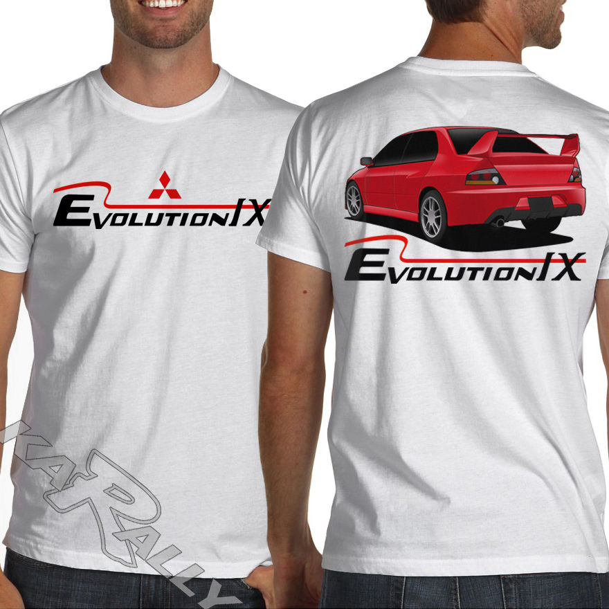 2018 Summer Cool T-shirt Lancer Ralliart Evolution IX White or Gray Jdm T-Shirt Evo 9 Rally Funny Tee Shirt ...