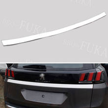Auto Edelstahl Chrom Hinten Stamm Abdeckung Heckklappe Trim Zurück Tür Molding Aufkleber Rahmen Fit für Peugeot 3008 2017 Auto Styling abdeckungen