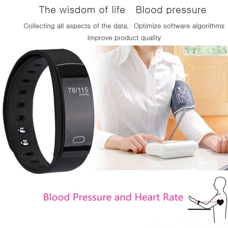 New QS80 Smart Bracelet Heart Rate Blood Pressure Fitness Tracker Smart Electron