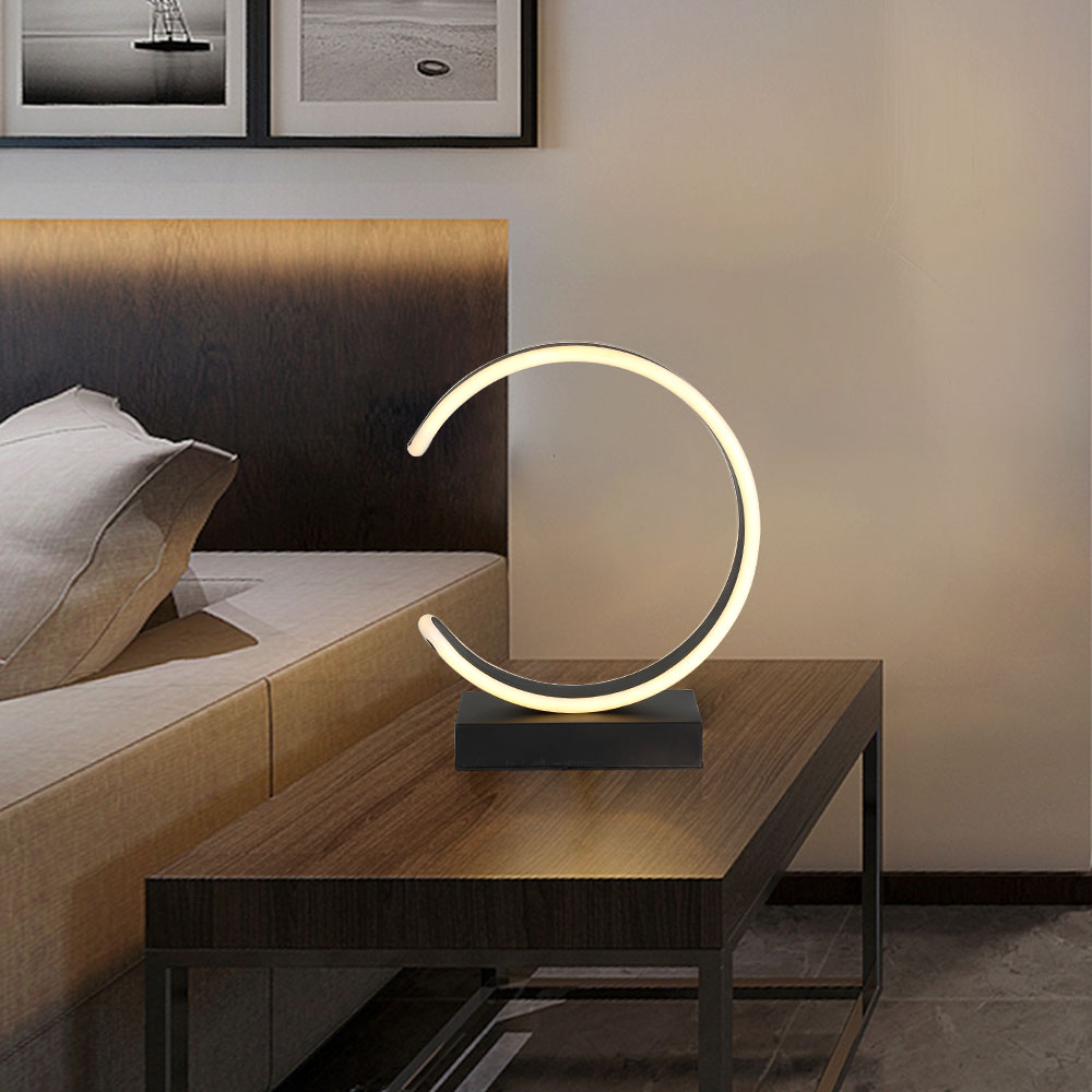 Beau Led Table Lamp Modern Desk Lamp Black Book Reading Light Button Switch  Bedroom Living Room Study Office Decoration Lighting In Desk Lamps From  Lights ...