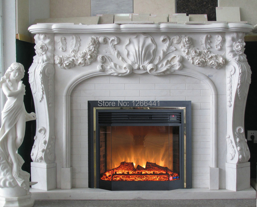 European fireplace set carved marble fireplace mantel