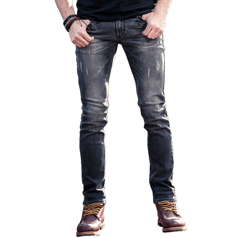 2018 New Gray European Jeans Mens High Quality Four seasons Denim Jeans Pants For Men pants Designer Cotton Jeans Man brand jean new afs jeep brand autumn and winter man jeans men pants straight cotton male denim brand jeans more pocket overalls