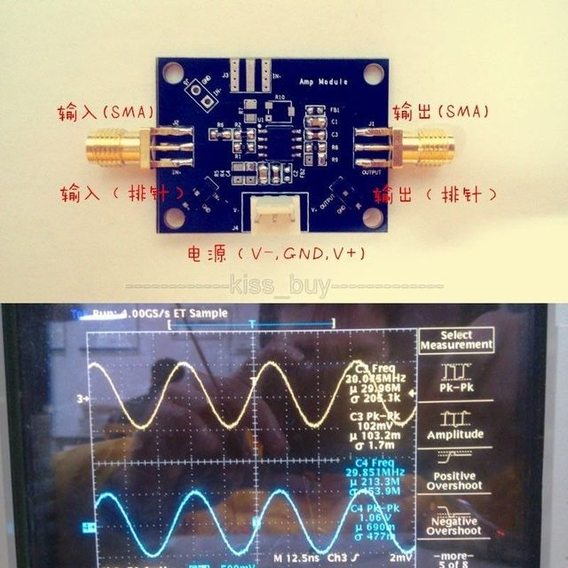 Único OP-Módulo Amplificador/Amplificador de Sinal de Banda Larga//Pulse Módulo Amplificador