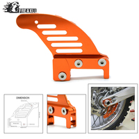 dirt bike Motorcycle accessories cnc aluminum Rear brake disc guard potector For KTM 125 SX/EXC 2003 2014 For Husaberg