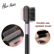 Professional new Metal Teeth Eyelash eyebrow 2 in 1 brush Beauty Supplies Brush Lash Comb Eyelash Curler for Makeup Comb Tool
