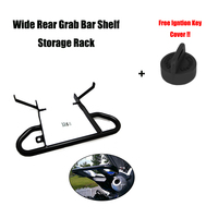 Wide Grab Bar Rear Handle Grab ATV+Free Igntion Key Cover for Yamaha Raptor 700 YFM700 Shelf Storage Rack 2009 2010