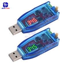 Светодиодный потенциометр, Регулируемый USB преобразователь с 5 В в постоянный ток 1 24 В, с понижающим/понижающим преобразователем, модуль регулятора напряжения источника питания