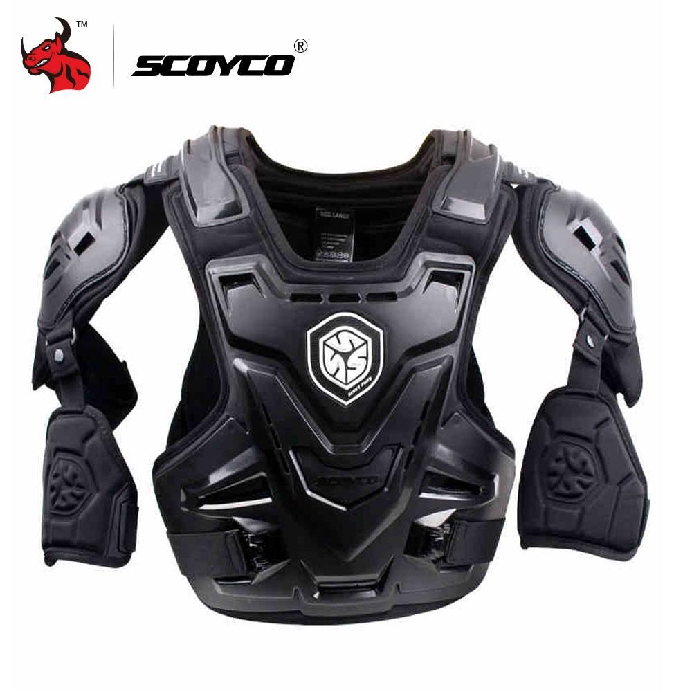 SCOYCO CE Moto Armure Motocross Poitrine Back Protector Armour Gilet Moto Veste Racing De Protection Corps Garde MX Armure