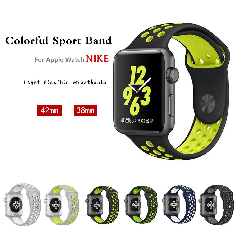 sport band strap for iwatch 2 apple watch 42mm/38  correa bracelet Silicone watchband 1: 1 original pulseira With Adapter триммер babyliss pro 25мм на батарейке 1180379