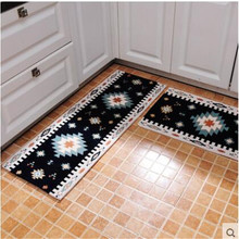 beibehang Simple geometric kitchen anti - skid mattress strip anti - oil home dirty machine washable kitchen mat full floor(China)