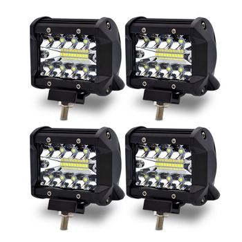 Safego 4pcs 4 Inch 60W LED Spot Work Light Bar LED Chips Offroad Car Light 4x4 Driving Light Lamp For Truck Boat  TR60W-SP-4