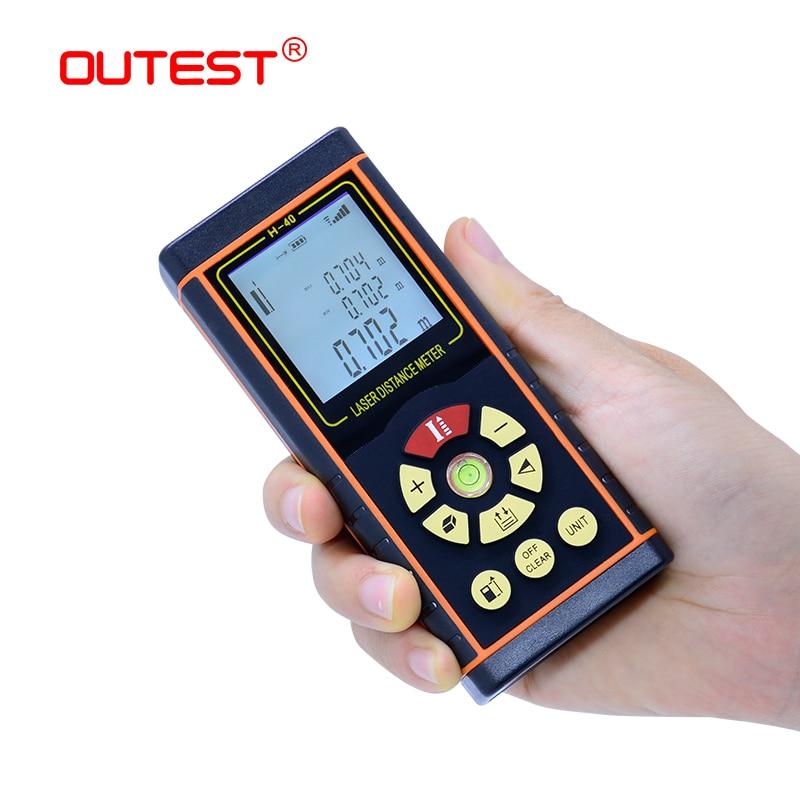 Medidor de Distância A Laser 40 OUTEST m 80 60 m m 100 m laser range finder fita métrica trena a laser governante fita com nível eletrônico
