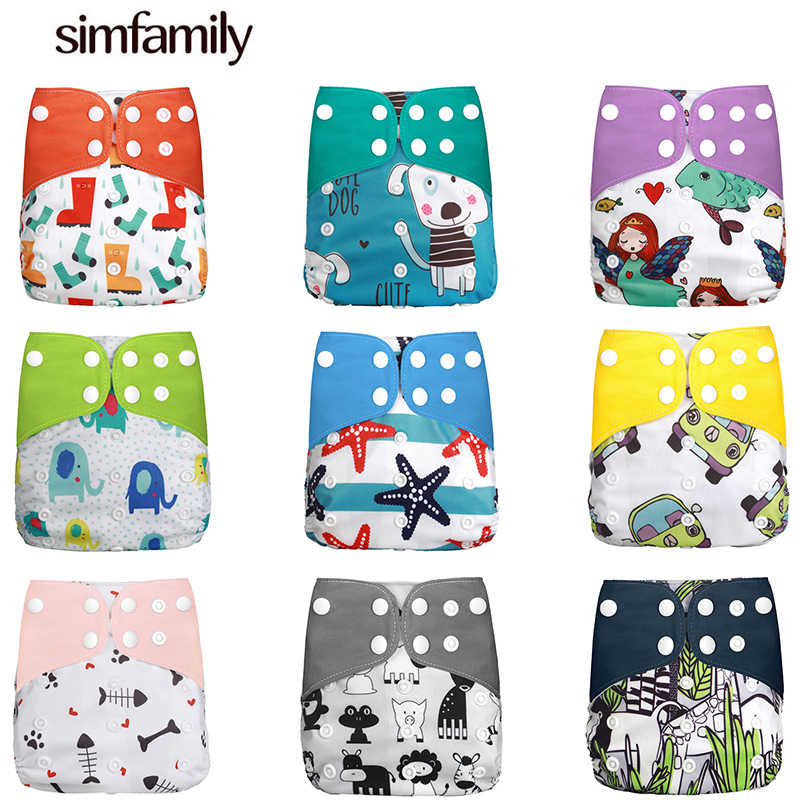 [simfamily]Diaper new baby cloth diapers porket  adjustable boy girl newborn washable waterproof reusable nappies