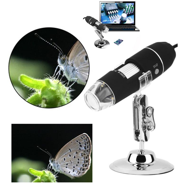 1000X 800X 500X 200X Usb Digital Microscope USB Endoscope Camera Microscopio Magnifier With 8 LED lights for Soldering Adults 50x 500x digital usb microscope skin follicle scalp metal detector purple microscopio usb support otg with ruler cd rom