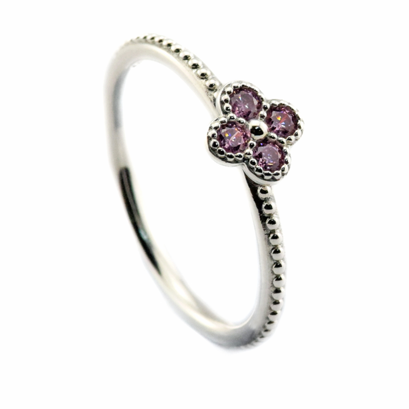 a989f81e5 925 Sterling Silver Rings Women Oriental Blossom Ring with Pink CZ Silver  Rings for Women FLR091-in Rings from Jewelry & Accessories on  Aliexpress.com ...
