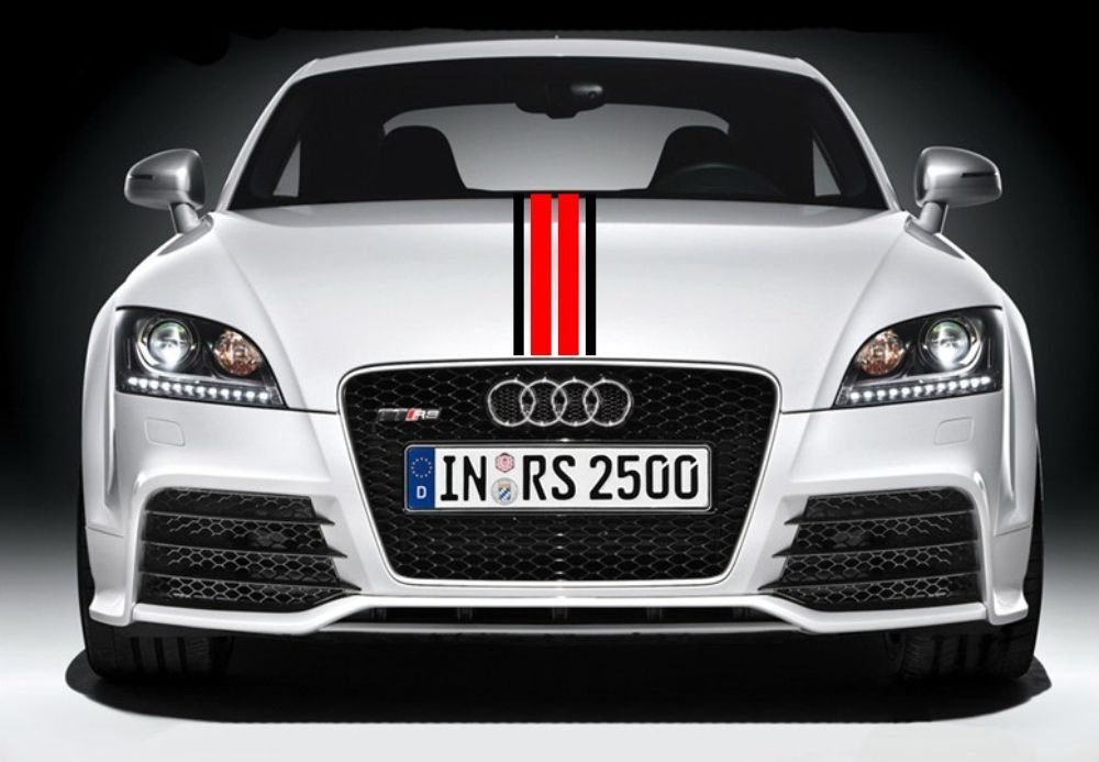 Car styling for car racing dual sport stripes hood decals vinyl graphics stickers cg360 in car stickers from automobiles motorcycles on aliexpress com