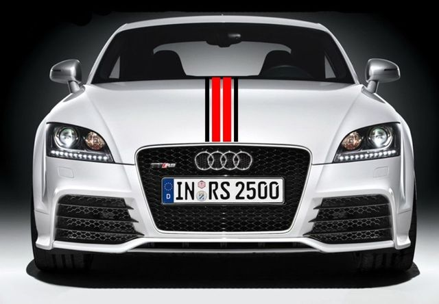 Car styling for car racing dual sport stripes hood decals vinyl graphics stickers cg360