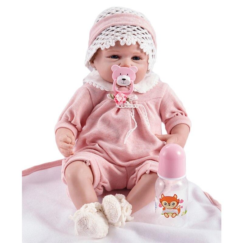 Реалистичные 20 дюймов силикона Reborn Baby куклы и игрушки для девочка Brinquedos Boneca reborn SB5016 кукла детский день рождения для девочек