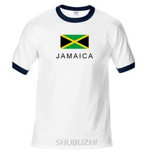 f9f0e8c62 Jamaica mens t shirts fashion jerseys  nation 100% cotton t-shirt clothing  tees sporting footballer JAM Jamaican ringer Tee