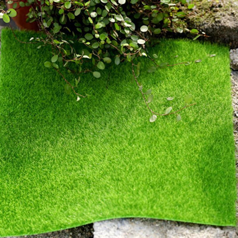 15x15cm Micro Landscape Decoration DIY Mini Fairy Garden Simulation Plants Artificial Fake Moss Decorative Lawn Turf Green Grass