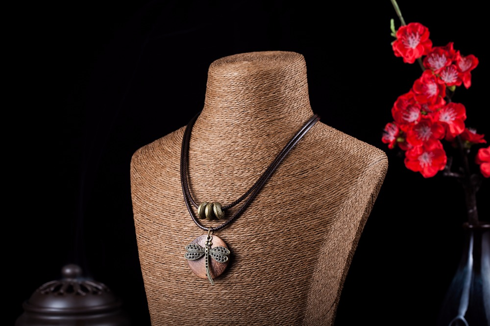 Fashion Choker Woman Վզնոցներ vintage զարդեր Dragonfly - Նորաձև զարդեր - Լուսանկար 6