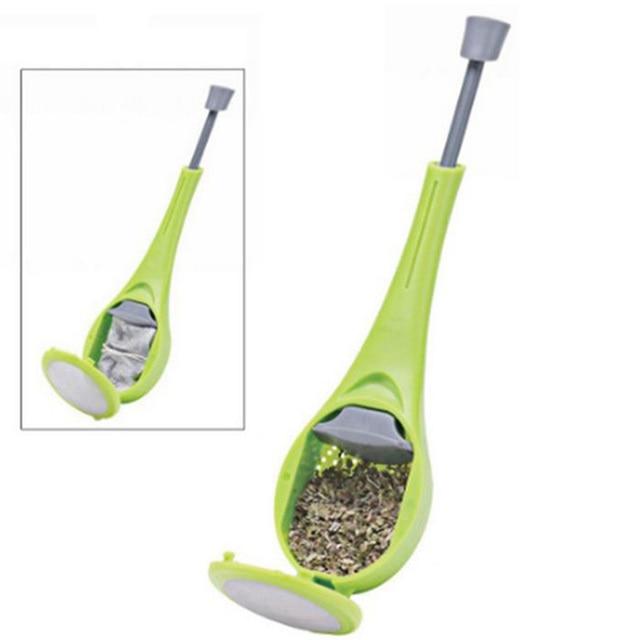Reusable Tea Infuser Strainer Gadgets Plastic Built-in Plunger Healthy Intense Flavor Tea Bags Measure Swirl Steep Stir&Press 4