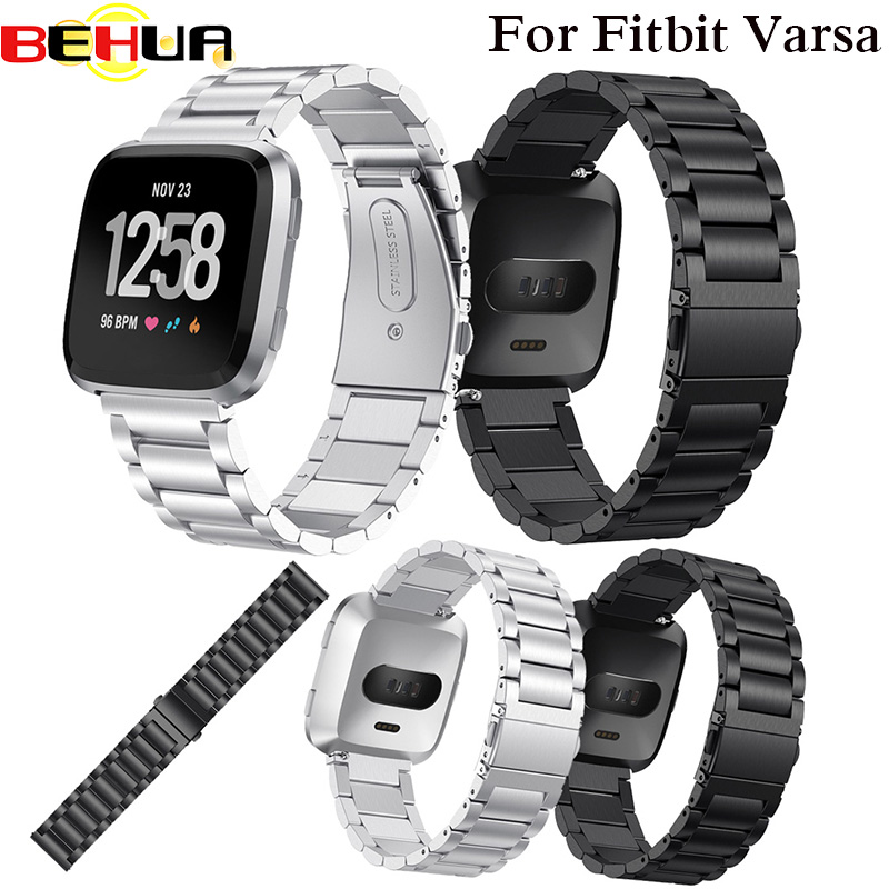 New Metal Strap For Fitbit Versa Band Women Strap With Pin Screwless Stainless Steel Bracelet Wristbands Replacement Accessories
