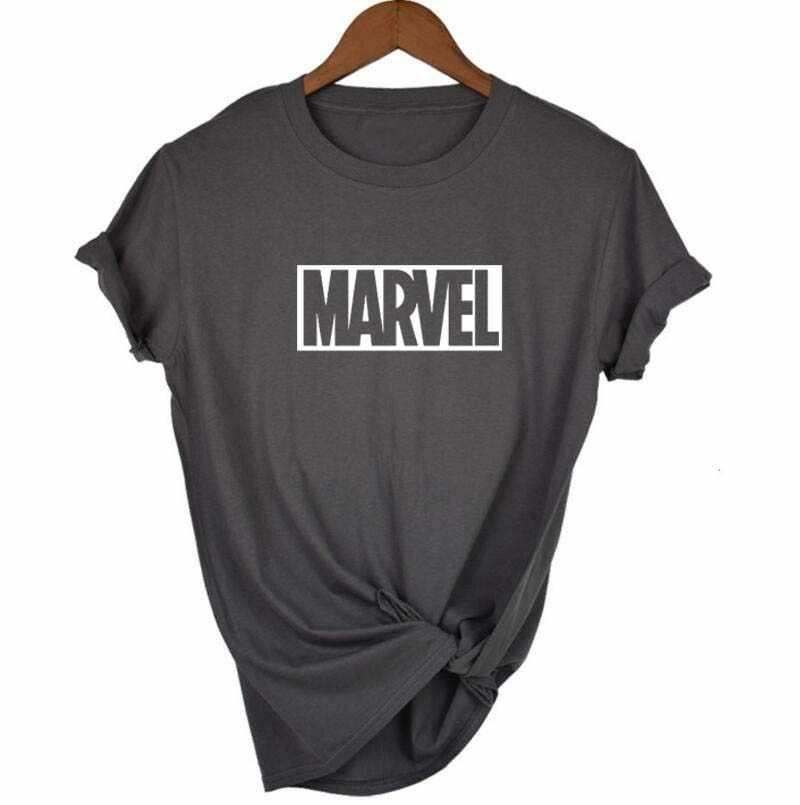 2018 Fashion Harajuku Casual Women's T-Shirts Punk Rock MARVEL ts Cotton tumblr tshirt Casual Hipster For Famale Top