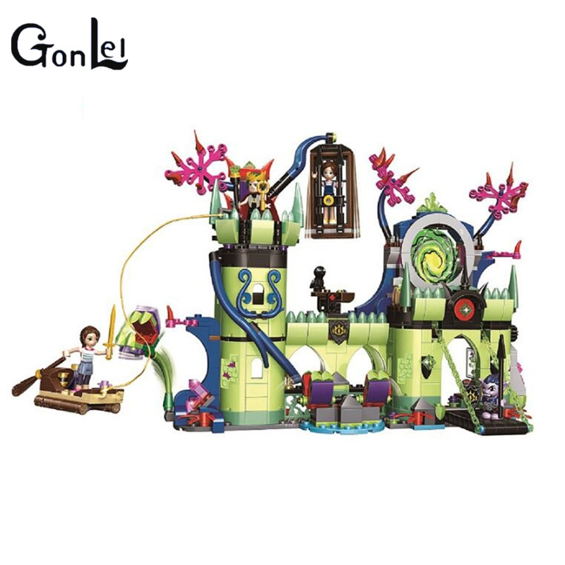 10699 Elves Breakout from the Goblin King's Fortress Building Blocks kids girls Bricks toys Christmas Gift Compatible With 41188 2017 10415 elves azari aira naida emily jones sky castle fortress building blocks toy gift for girls compatible lepin bricks