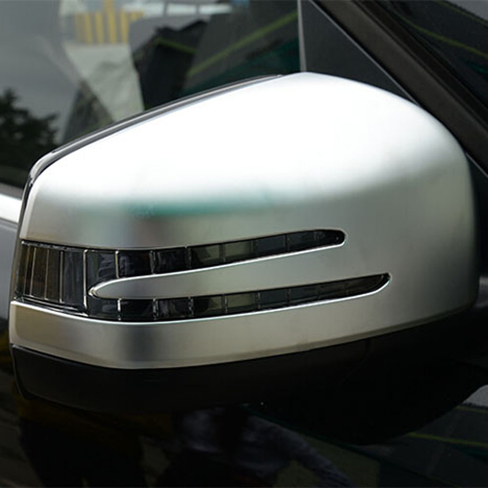 Wing rear view mirrors canopy cover sticker trim for Benz mercedes ml320 ml350 ml400 gl350 gl400 GL500 exterior accessories