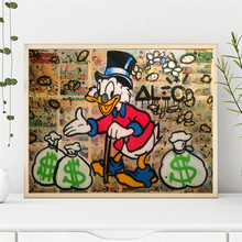 Money Scrooges Mcduckes Canvas Posters Alec Monopolyingly Prints Wall Art Painting Decorative Picture Modern Home Decoration