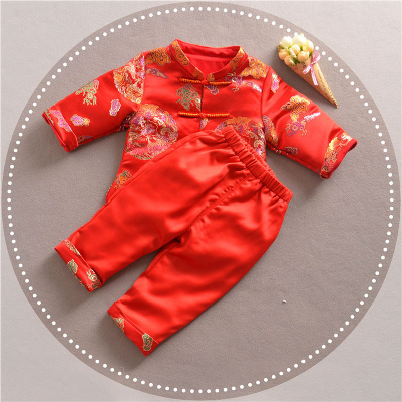 6744132e2 Chinese Style Traditional Winter Boy Clothing Child Tang Suit For New Year  Baby Boy Clothes 2018. sku: 32946485137
