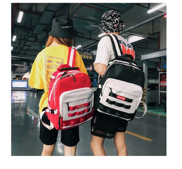 Ins Super Por Shoulder Bag Harajuku Ulzzang High School Students Large Capacity Backpack Chic Men
