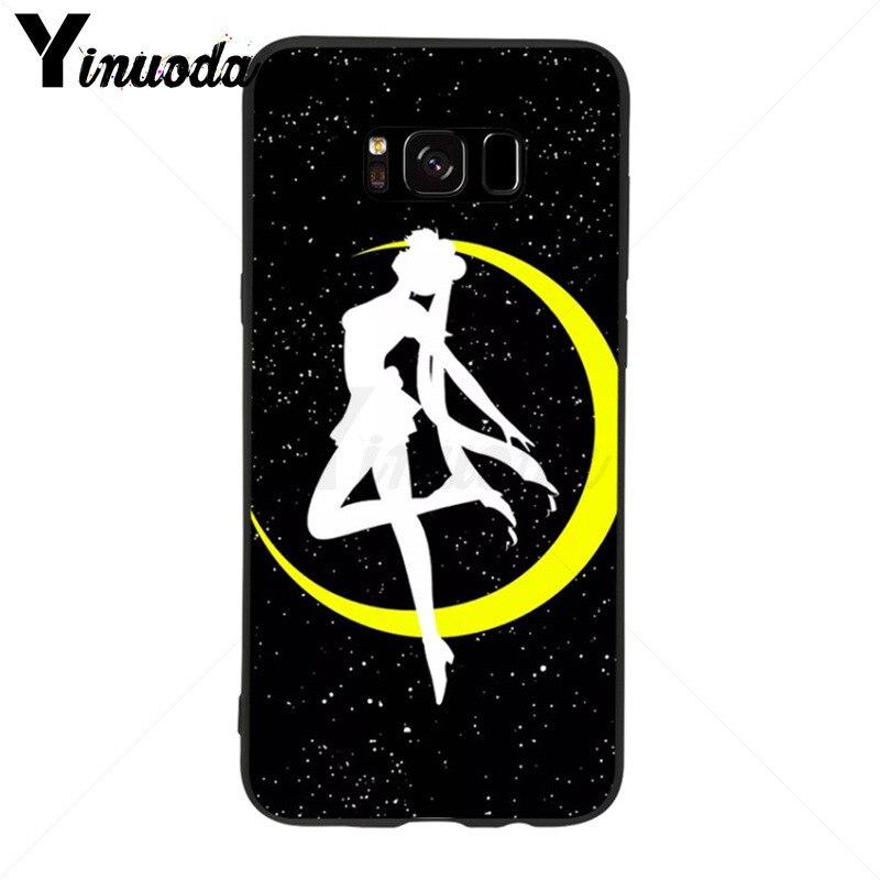 Yinuoda Sailor Moon Luna Cat Soft Tpu Phone Case Cover For Samsung Galaxy S9 Plus S7 Edge S6 Edge Plus S5 S8 Plus Case Half-wrapped Case Cellphones & Telecommunications