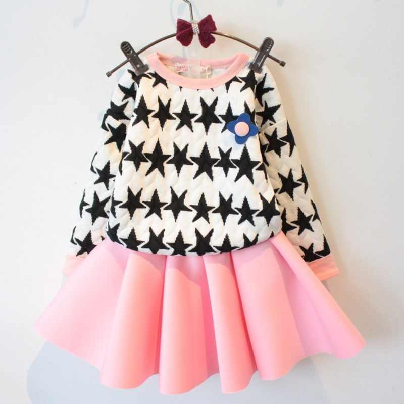 Free shipping 2016 new style floral fashion children girl princess dresses 100 cotton casual kids girl