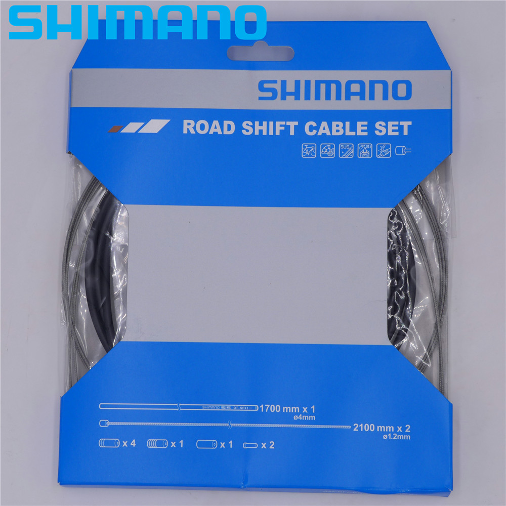 Shimano MTB Bike Shift Cable//Derailleur Set Black Housing Stainless OT-SP41S