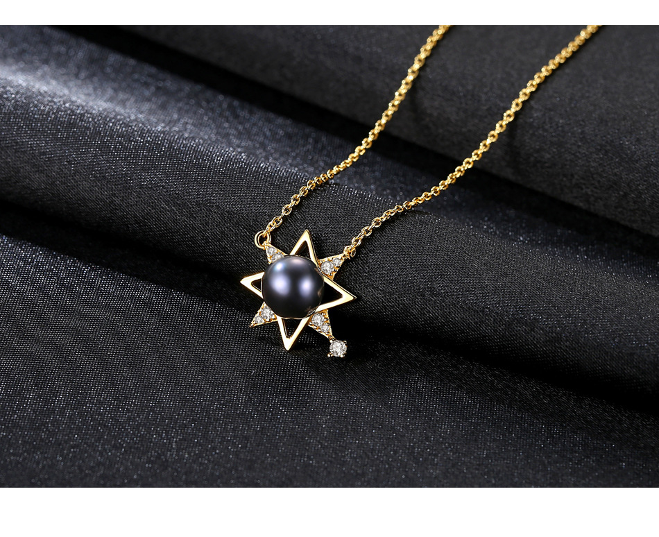 S925 sterling silver necklace female clavicle chain fashion freshwater pearl pendant necklace CHI01 equte psiw3coot1 s925 sterling silver necklace cat s eye axe pendant chain white silver 16