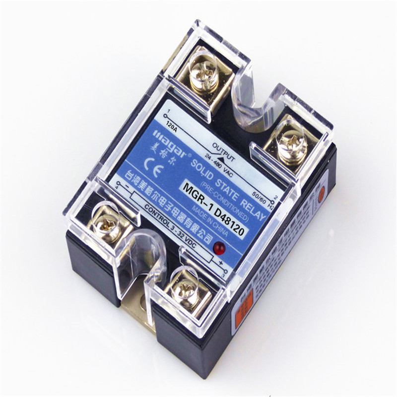 цена на Normally Open Single-Phase Solid State Relay SSR MGR-1 D48120 120A Control DC - AC 24-480V